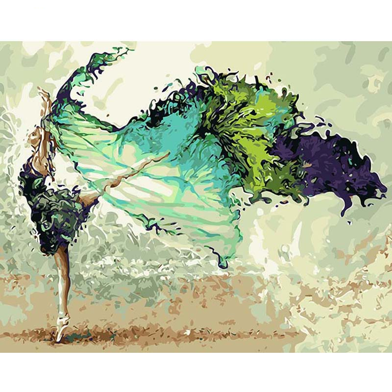 Colorful Dancing Ballerina Painting by Numbers Set